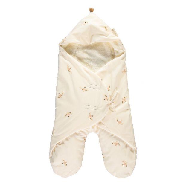 a419ca296e6 Cozy - Organic cotton baby wrap with polar fleece lining-product