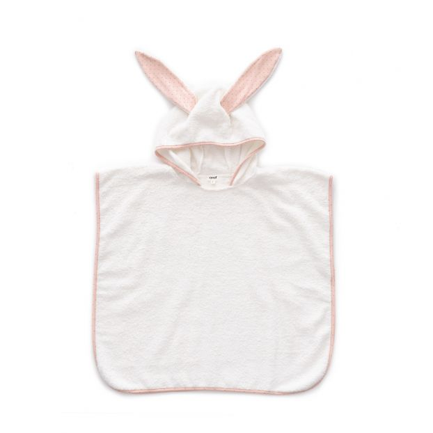 Terry cloth poncho Pale pink Oeuf NYC Design Children f8cf4bf1a