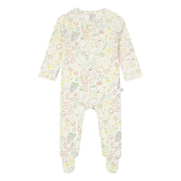 041a31cfe8994 Pyjama Coton Bio Blanc Stella McCartney Kids Mode Bébé