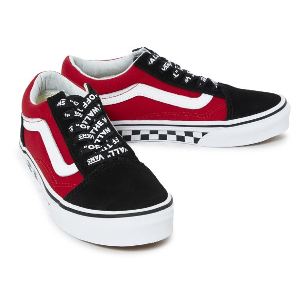 vans bianche off the wall