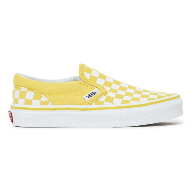 56f86aa64f6 Checkerboard Slip-On Trainers Yellow Vans Shoes Teen