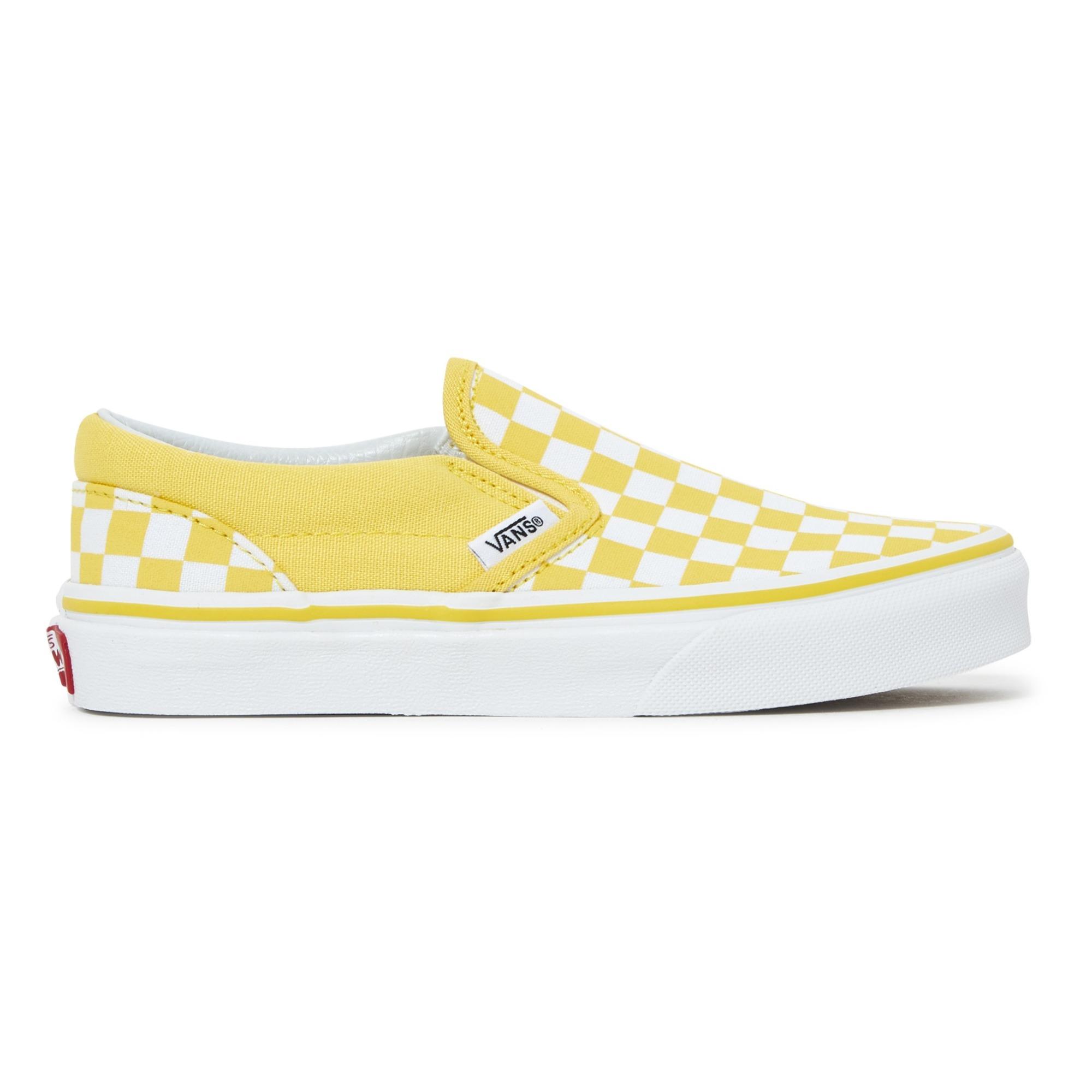 7de948cfa93 Checkerboard slip on trainers yellow vans shoes teen children jpg 2000x2000 Vans  slip yellow logo