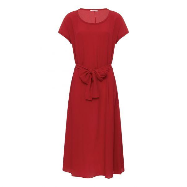 9409c16884c4 Vestito con cintura Rosso Pomandère Moda Adulto