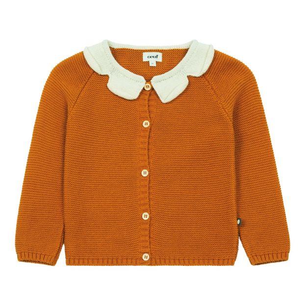 8bb956427 Daisy organic pima cotton cardigan Ochre Oeuf NYC Fashion Baby