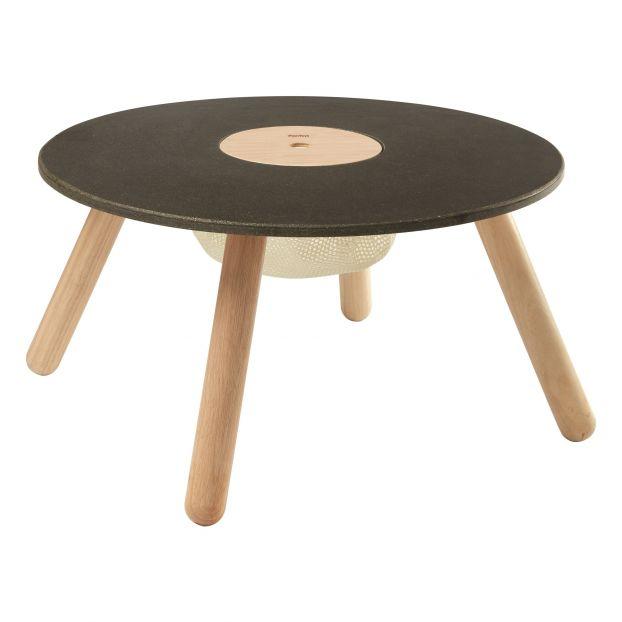 Table de jeu en bois d\'hévéa et plateau ardoise