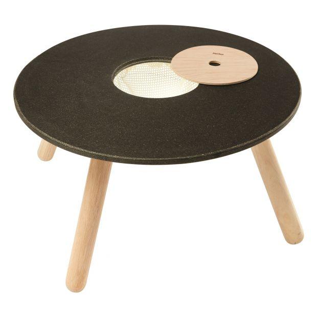 Table de jeu en bois d\'hévéa et plateau ardoise Plan Toys