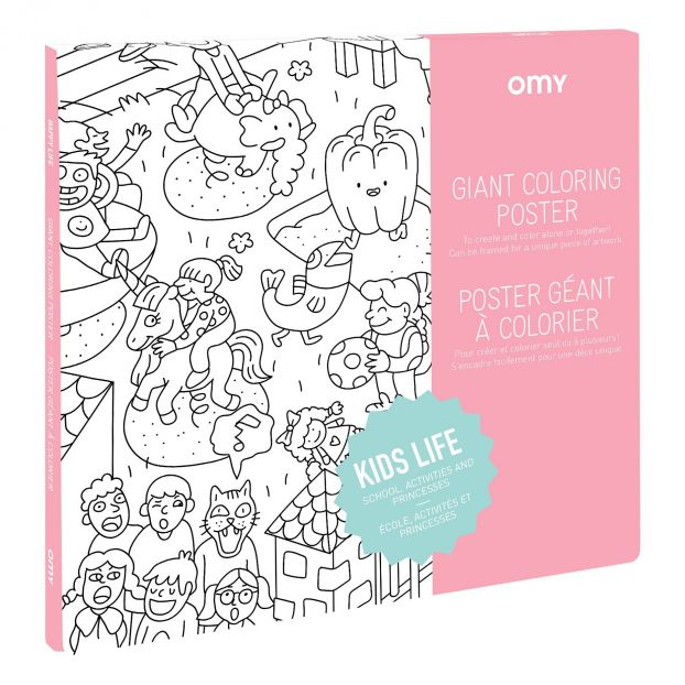 Giant colouring poster - Kids Life Omy Toys and Hobbies Children