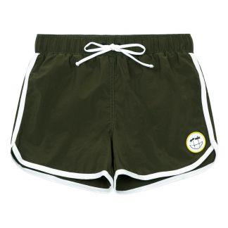 9487533324 Wall Ride Checkerboard Swim Shorts Black Munsterkids Fashion