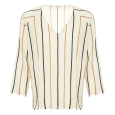 product-Pomandère Striped embroidery blouse
