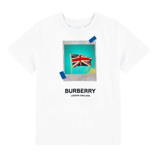 25fa6e181 Printed T-shirt White Burberry Fashion Teen , Children