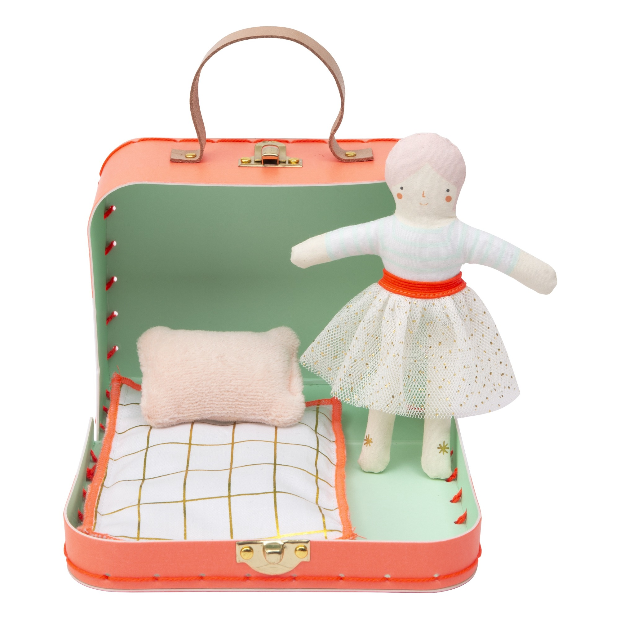 Meri Meri - Valise avec poupée Matilda - Corail