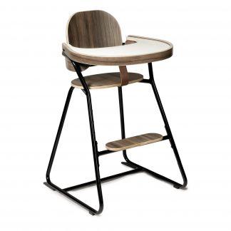 Avec En Évolutive TibuStructure Métal Et Haute Chaise Tablette Cuir BoisEntre Noyer Jambe 80wNknOPX