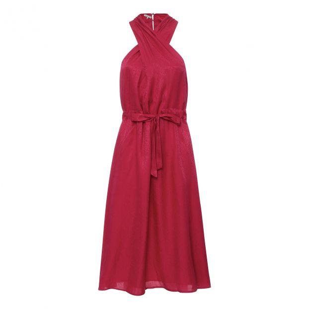 online store b27c9 eead9 Vestito Seta Rosso