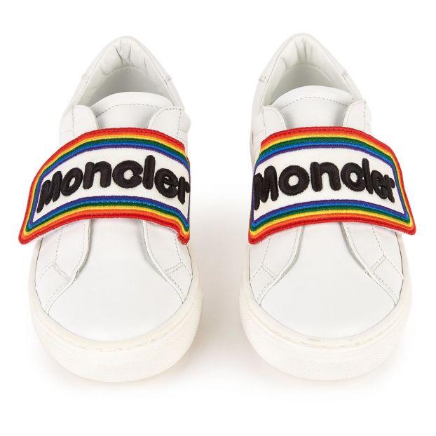 cfa45f0b6 Meiko velcro trainers White Moncler Shoes Teen , Children