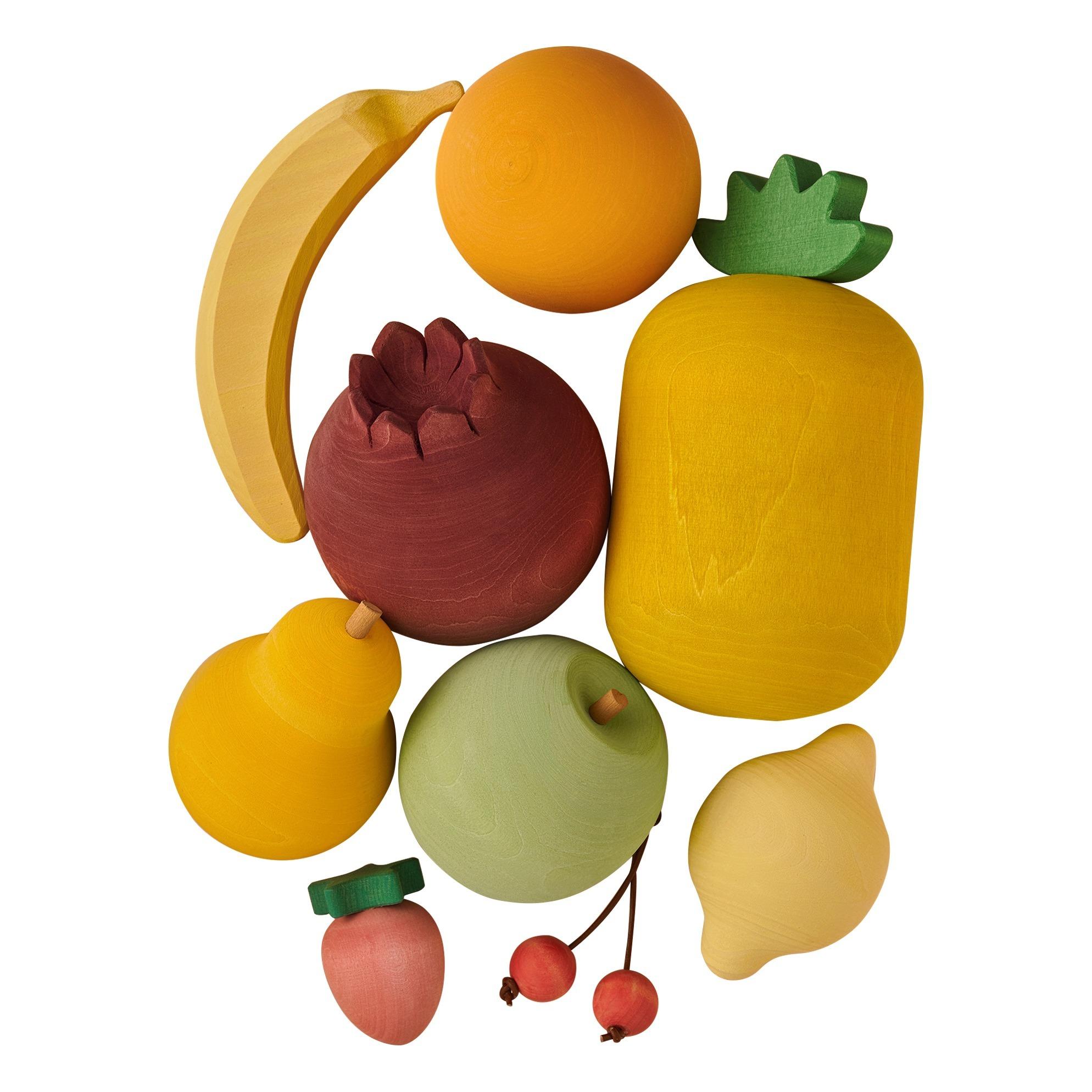 Set de fruits en bois