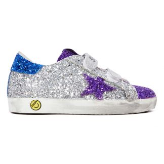 ec31e5a41e77a8 Golden Goose Deluxe Brand Old School Glitter Leather Trainers-listing