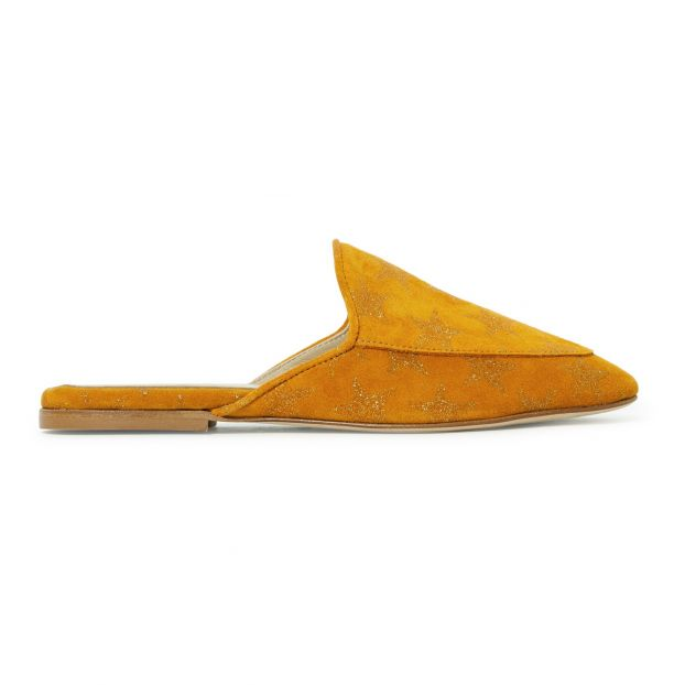 buy online a23e2 46f0a Suede Mules Mustard