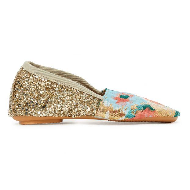 bons plans 2017 dernières tendances belle et charmante Glitter derby shoes Gold