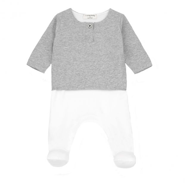 e6a419fcc4fd Xabier Organic Cotton Romper Grey 1+ in the family Fashion Baby