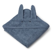 product-Liewood Albert hooded bath towel in organic cotton terry cloth