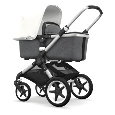 product-Bugaboo Fox complete pushchair, aluminium chassis and grey mélange seat