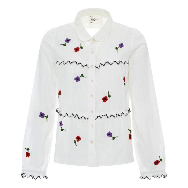 Leon & Harper Flower Camicia Donna Bianco Abbigliamento