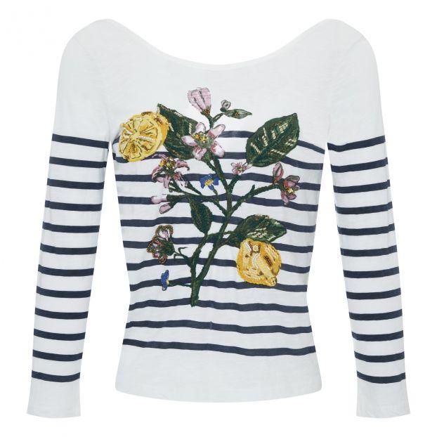 d5df4cb7cf3a8 T-Shirt Tacous Coton Bio Blanc Leon   Harper Mode Adulte
