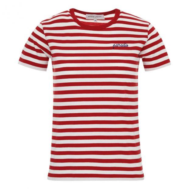 c493320755 Paradis Striped T-shirt - Women's Collection - Red Maison Labiche