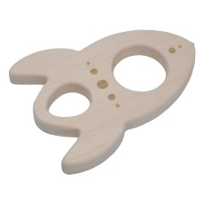 product-Loullou Rocket teething ring in wood