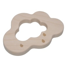 product-Loullou Cloud teething ring in wood