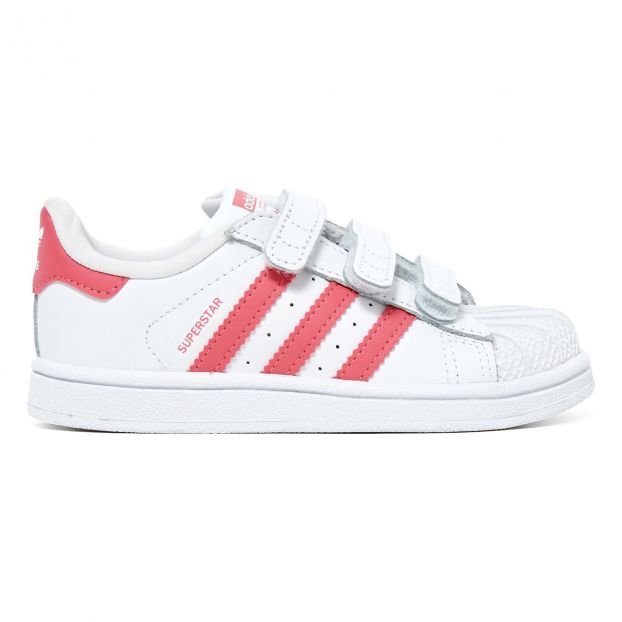 290df61f4d7 Superstar Velcro Trainers Pink Adidas Shoes Baby , Children