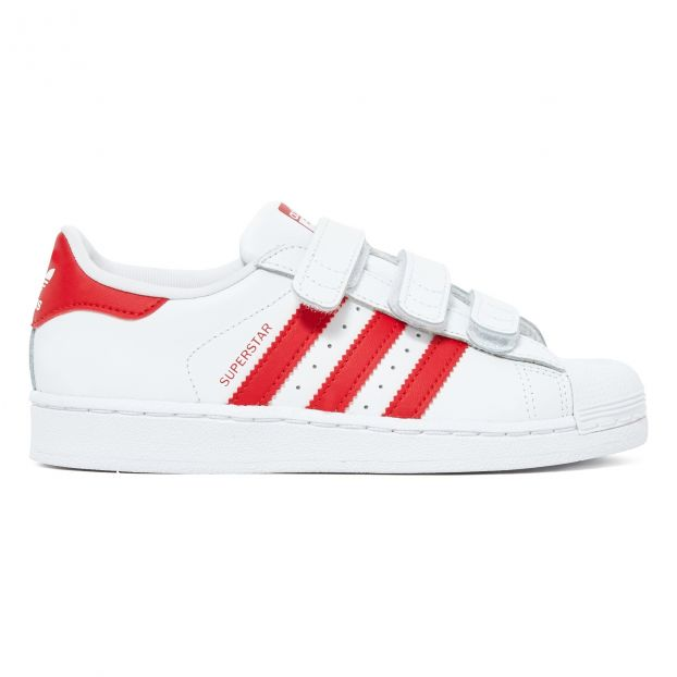 Superstar Velcro Trainers Red Adidas