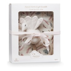product-Cam Cam Gift set - swaddle and rattle in organic cotton
