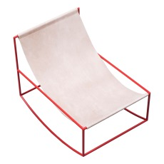 product-Valerie Objects Rocking Chair, leather, Muller Van Severen