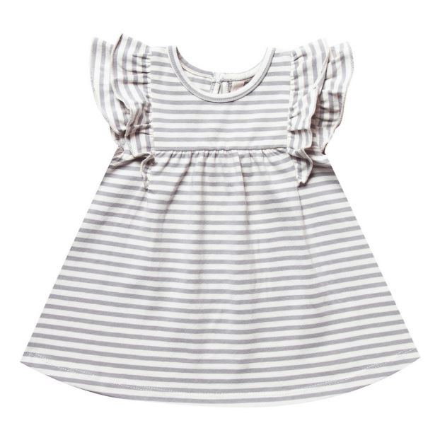 ddb735d2dc197 Quincy Mae Organic Cotton Striped Dress Off white Quincy Mae