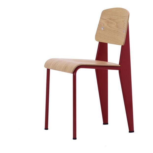 Chaise Standard Pietement Rouge Japonais Jean Prouve 1934 1950 Product