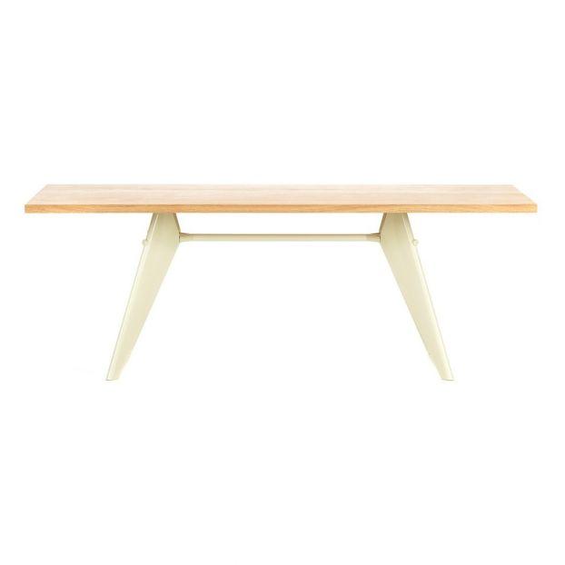 Em Table Ecru Base Jean Prouve 1950 Oak Vitra Design Adult