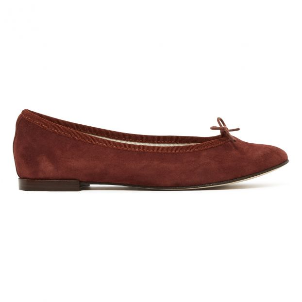 99dd78894 Cendrillon Suede Ballet Flats Burgundy Repetto Shoes Adult