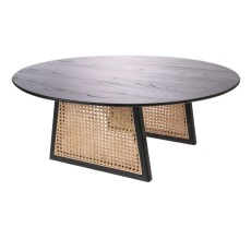 product-HKliving Coffee table with cane webbing