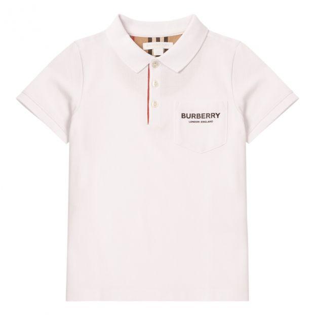 90b7cc8ee Logo polo shirt White Burberry Fashion Teen