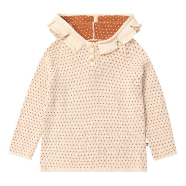 0846157a0424 Daisy organic pima cotton hoodie Ecru Oeuf NYC Fashion Baby ,