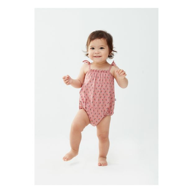 f06cc5028a0 Tulips organic pima cotton romper Pink Oeuf NYC Fashion Baby