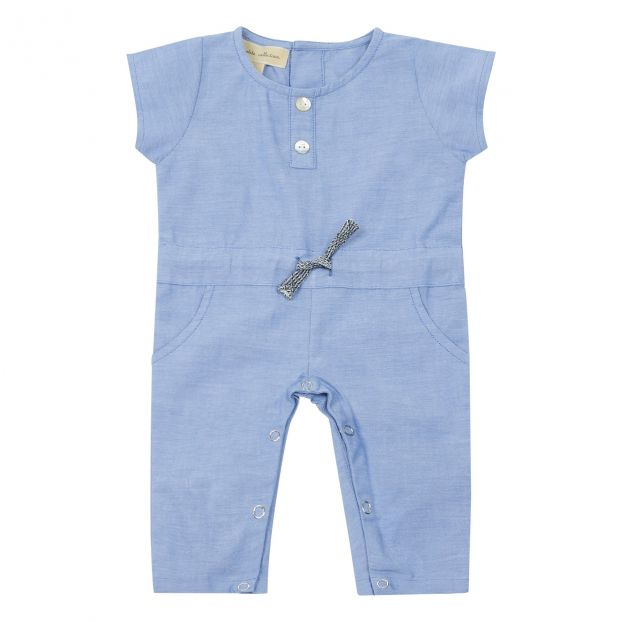 39ef7ba80409 Exclusive  La Petite Collection x Smallable - Chambray jumpsuit-product