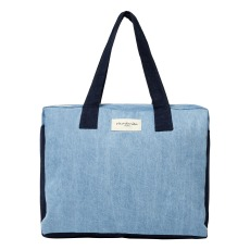 product-Rive Droite Elzevir weekend bag in upcycled denim