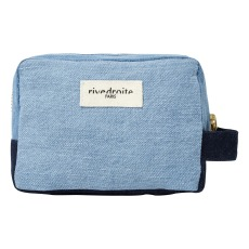 product-Rive Droite Trousse Make-up in denim riciclato