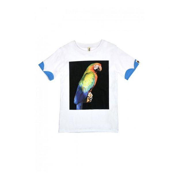d7913b0a5505 Organic cotton Parrot T-shirt White Popupshop Fashion Children