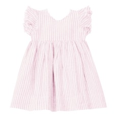 product-Il Gufo Linen Bow Dress