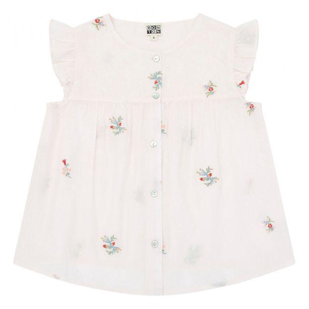 cccc2395a1ce Nicolo blouse Pale pink Bonton Fashion Children