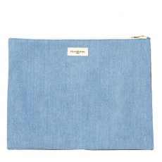product-Rive Droite Barbette pouch in upcycled denim