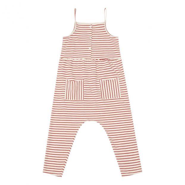 70f12b2f0 Striped jersey jumpsuit Red Zhoe   Tobiah Fashion Children
